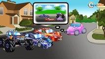 Vidéo éducative pour enfants - Voiture de course, Pelleteuse - Développement d'enfants