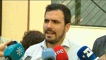 Garzón: Estamos sorprendidos con el trilerismo político entre PSOE, PP y C's