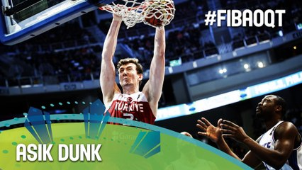 Muhammed to Asik for the dunk!