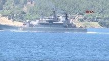 Çanakkale Rus Savaş Gemisi Ege Yolunda