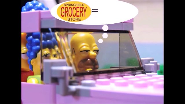 the Lego Simpsons Simpsons at shopping animation