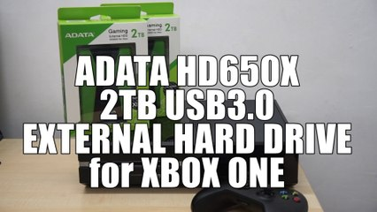ADATA HD650X External HDD for XBOX One Overview