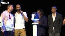 Le tirage au sort du tournoi PES avec Karembeu et Trezeguet