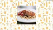 Recipe Wild Salmon with Pearl Couscous, Slow-Roasted Tomatoes, and Lemon Oregano Oil