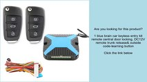 1 blue brain car keyless entry kit remote central door locking, DC12V remote trunk release&