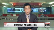 Sales for Summer must-have items spike in Korea  due to intense heat