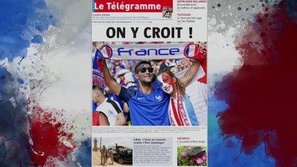 La presse française à fond derrière les Bleus !