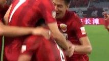 En Chine, Hulk marque son 1er but et se blesse