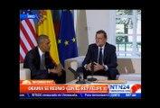"""""""Estamos preocupados por la situación en Venezuela"""": Obama durante encuentro con Rajoy en España"""