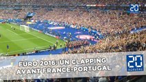 Euro 2016: Un clapping d'échauffement avant France-Portugal