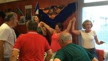 L'hymne français au bar Le Fado