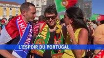 Un supporter portugais glisse une quenelle à iTélé et demande que Valls parte en prison pour 2017