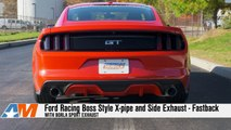2015-2016 Mustang V8 Ford Racing Exhaust Sound Clip Boss Style X-pipe and Side Exhaust Review
