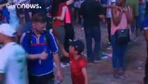 Watch As Portugal's Young Fan Consoles A French Fan!