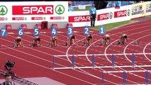 Terrible chute d'Elin Westerlund lors du 100m haies des Championnats d'Europe d'Athlétisme.