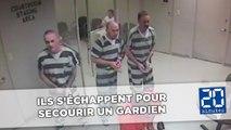Des détenus américains forcent la porte de leur cellule pour sauver un gardien