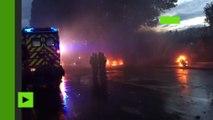 Les incendies sauvages se sont multipliés dans Paris au fil de la rencontre France-Portugal