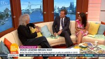 ITV_Good Morning Britain 11Jul16 - Brian May talks about life on tour with Queen & the badger cull