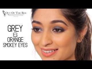 Grey & Orange Smokey Eyes | Eye Makeup Tutorial