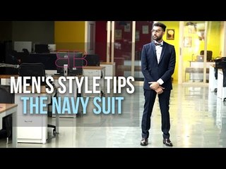Men's Style Tips : The Navy Suit | Blueberry Blackout