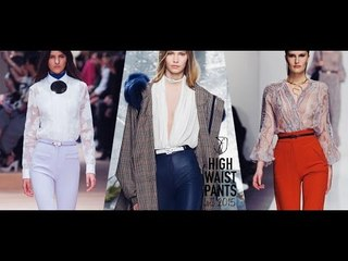 Discover Autumn Winter 2015 Trends | High Waisted Pants
