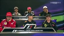 Formula 1 2012 Austin Texas GP funny clip from drivers press conference