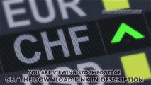 Swiss franc rising, falling. World exchange market. Currency rate fluctuating. Stock Footage