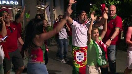 La joie des supporteurs portugais d'avoir battu la France