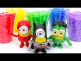 Minions Babydoll Bathtime Superhero Learn Colors Batman Superman Hulk Marvel  Toy