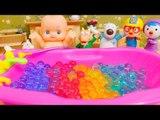 Baby Doll Bathtime & Pororo Jelly BATH play❤TOYFAMILY PLAY TOYS