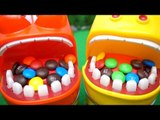 Larva Brush teeth after eating chocolate,Let's Brush Larva's  teeth!❤TOYFAMILY PLAY TOYS