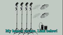 4 * SY8000 Photo Studio Strobe Light AC Slave Flash Bulb E27 with Umbrella Kit