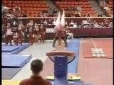 Gymnastics- Olympic hopeful performs perfect 10