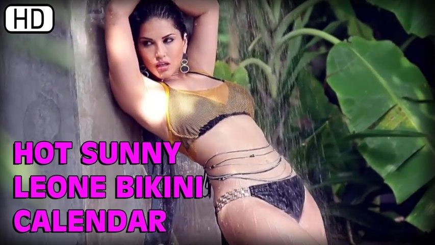 Hot Sunny Leone's Sexy Bikini Calendar   Manforce Condoms