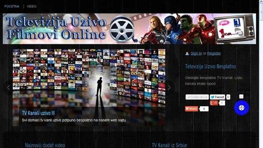 Besplatno gledanje svih domacih tv kanala i filmova uzivo