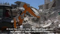 At least two children killed after air strikes on rebel held section of Syria's