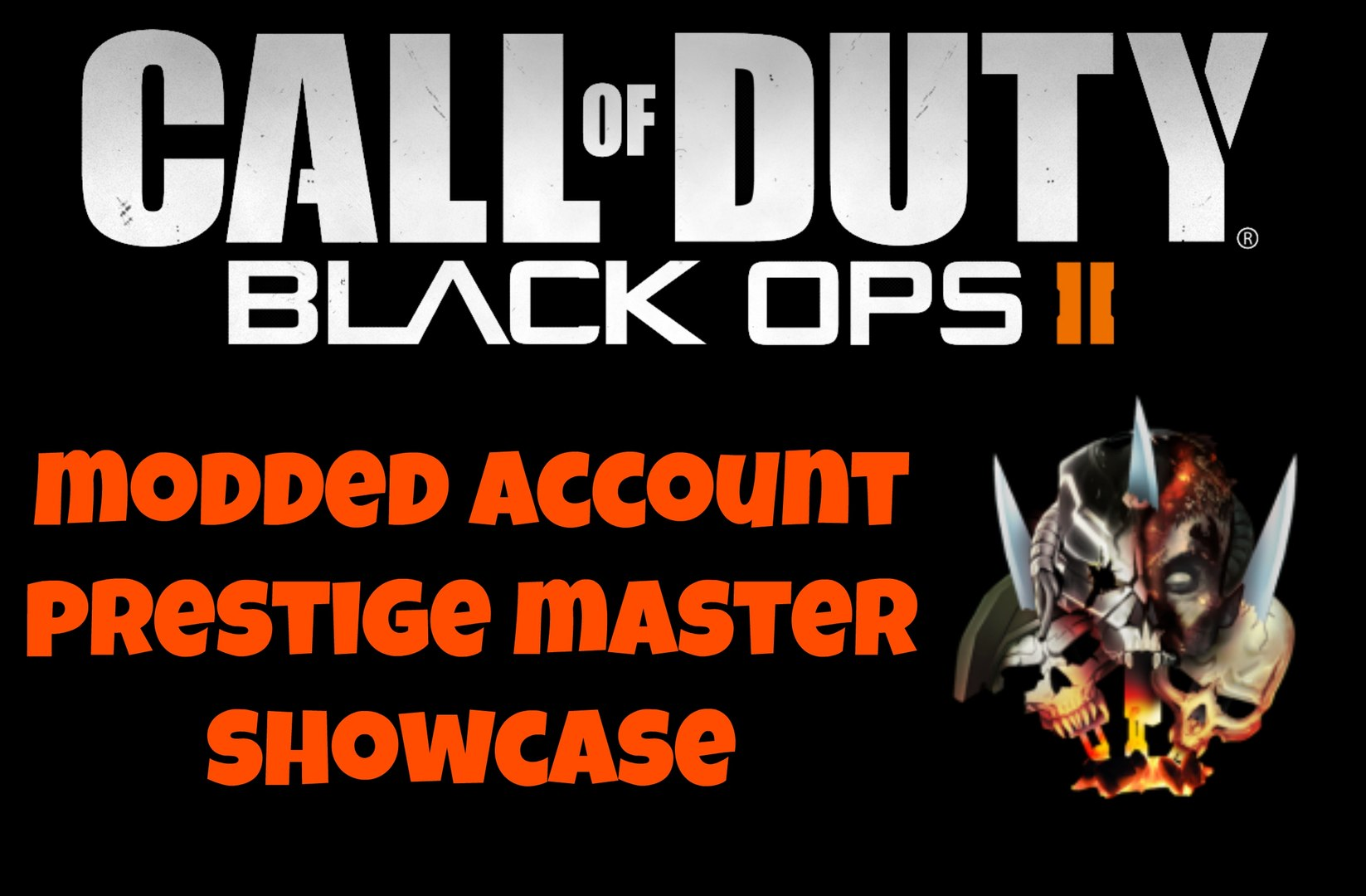 BLACK OPS 2 MODDED ACCOUNT SHOWCASE