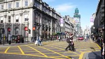 ABERDEEN SCOTLAND   13 SEPTEMBER 2015 A Lot Of People And Cars At Union Street In Aberdeen On Septem