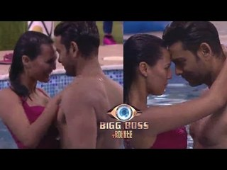 Rishabh & Andy Forced Rochelle & Keith To Do Seducing Dance In Pool   Big Boss 9