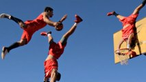 Dunk It Like It's Hot: Extreme Acro-Basketball Team Perform Gravity-Defying Stunts