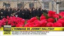 Johnny Hallyday Chante Un dimanche de Janvier ce 10 Janvier 2016 (hommage aux victimes)
