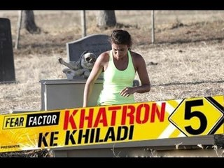 Gauhar Khan & Teejay Sidhu BURIED ALIVE On Fear Factor Khatron Ke Khiladi 5 Hosted By Rohit Shetty