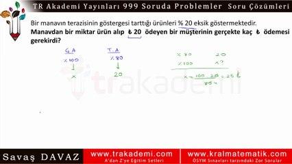 TR Akademi 999 Soruda Problemler Kitabı Soru Çözümleri - 022 - İşçi ve Havuz Problemleri