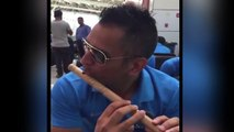 MS Dhoni playing flute, Suresh Raina shared video on twitter || Cricket News || Vianet Bollywood