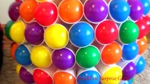 CRAZY CUPS and Balls Giant Egg 50 Surprise Eggs Toys For Kids Colour Balls Video For Children