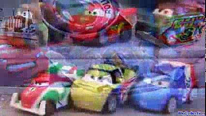Cars 2 Micro Drifters Lightning McQueen, Raoul Caroule, Nigel Gearsley, Mater Disney Speedway Track