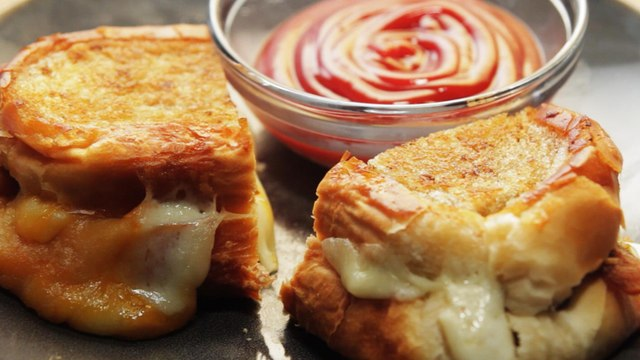 Fried Cheese Curd Grilled Cheese - Gourmet Twist On a Comfort Classic