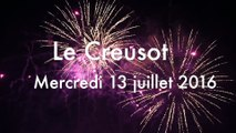 LE CREUSOT : Feux d'artifice 13 juillet 2016