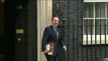 David Cameron bids farewell to 10 Downing Street