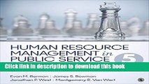 Read Human Resource Management in Public Service: Paradoxes, Processes, and Problems  Ebook Free